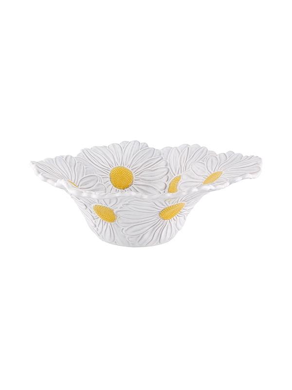 Saladeira 27 Margaridas branco/amarelo