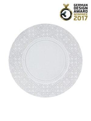 Prato Marcador 34 Branco Antique