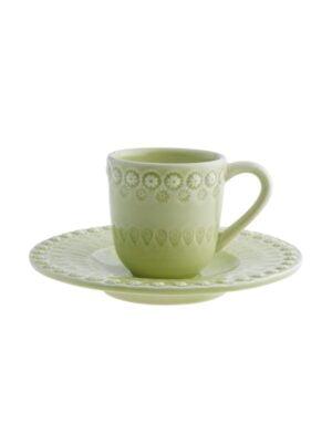 Chávena café c/pires Verde Alface