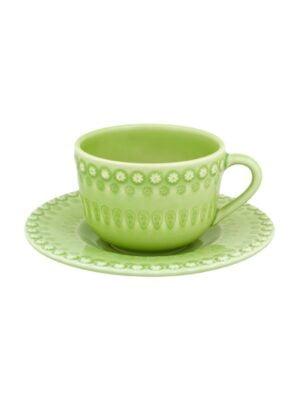 Chávena chá c/pires chá Verde alface