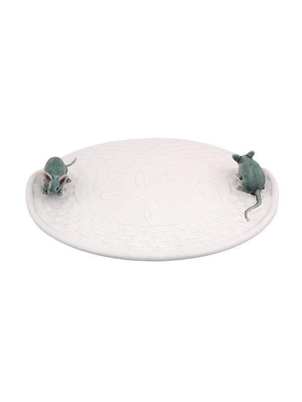 Queijeira Lírios Branca c/ Rato Natural