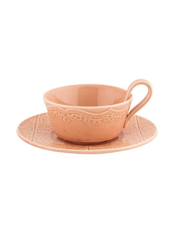 Chávena chá c/pires Rosa Nuance
