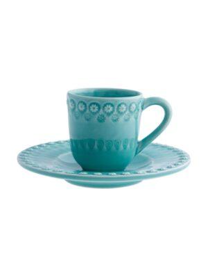 Chávena café c/pires Verde Água