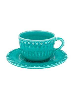 Chávena chá c/pires chá Verde água